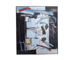 Blanche Barloon Mid-Century Abstract Oil on Canvas Painting