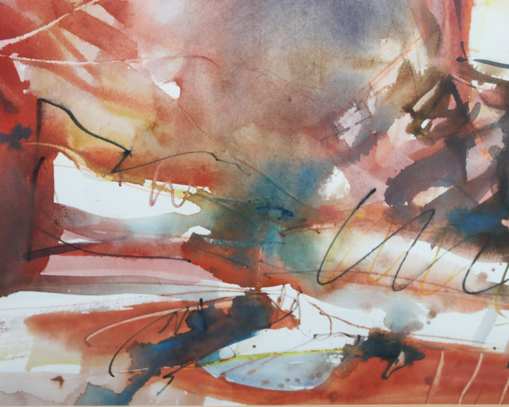 "Norman Bradley Non-Objective Watercolor ""Dream Space"""