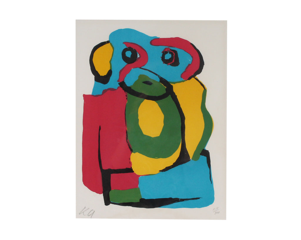 Karel Appel Limited Edition Lithograph of an Abstract Portrait