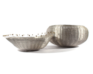 Michael Aram 1980s Woven Wire Bowls
