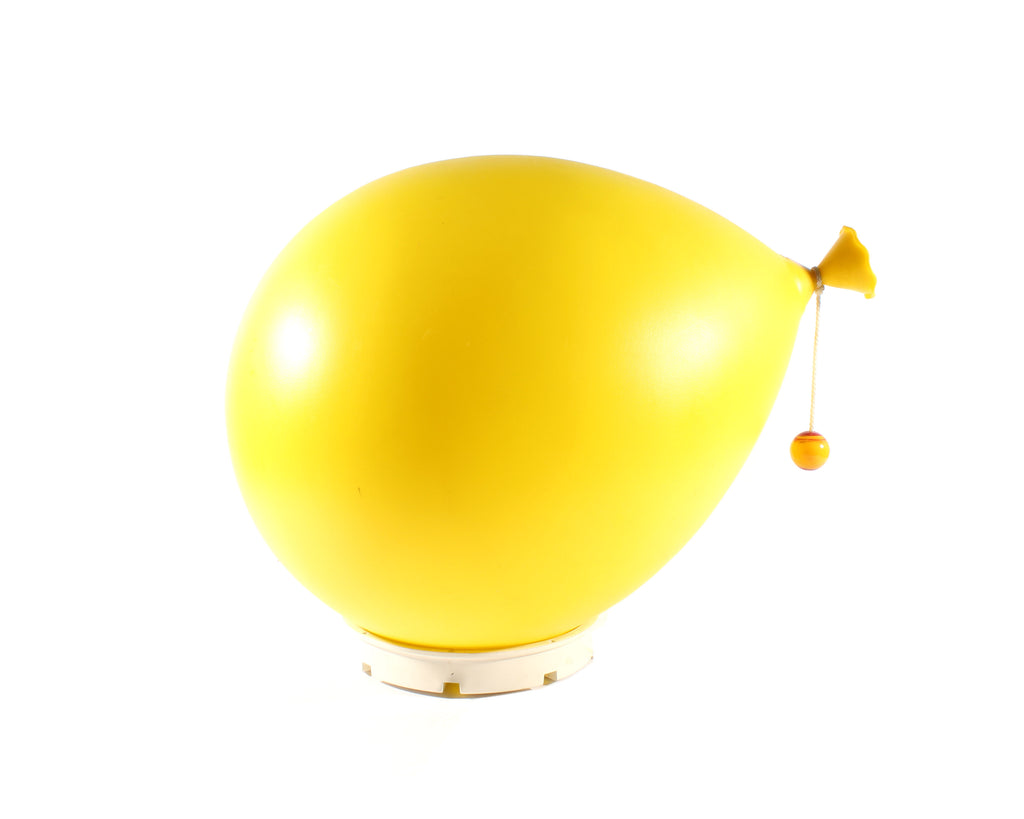 Vintage Bilumen Italian Yellow Balloon Lamp by Yves Christin