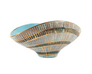 "Aldo Londi for Bitossi ""Seta"" Italian Ceramic Bowl"