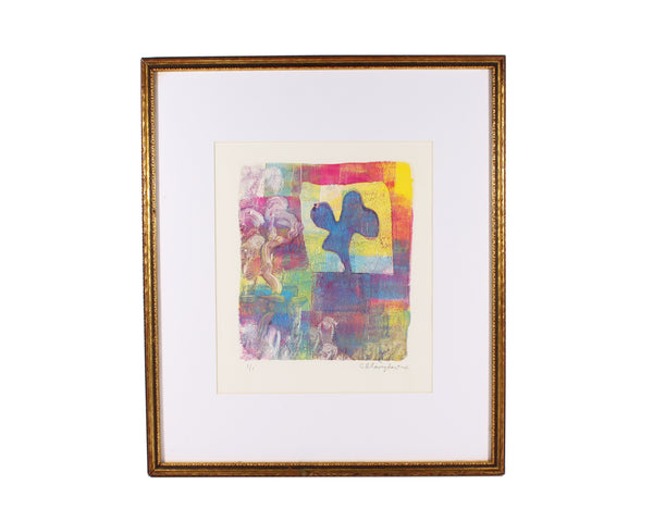 Cynthia Blasingham Signed Abstract Monoprint
