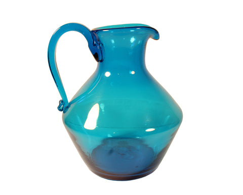 Blenko #6414 Blue Pitcher Designed by Joel Myers