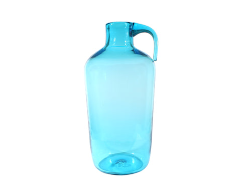 Vintage Mid-Century Indiana Glass Greenwich Flint Craft Glass Blue Jug