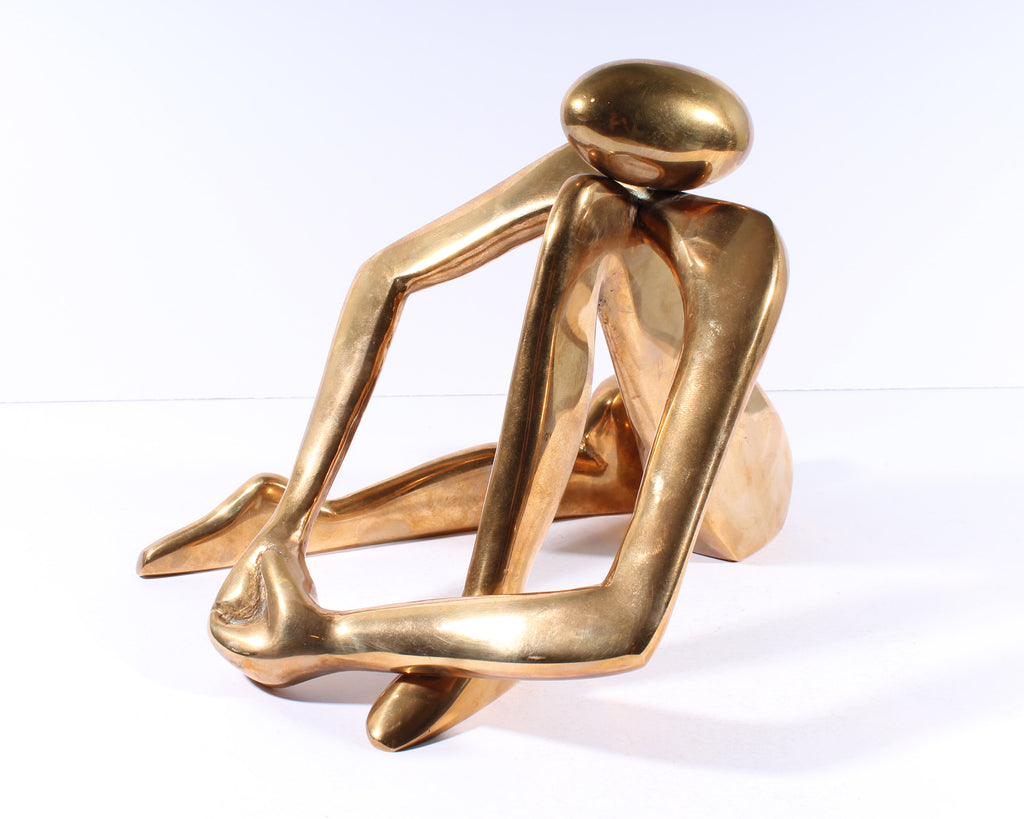 Arlene Eichengreen and Nancy Gensburg Signed Brass Abstract Sculpture
