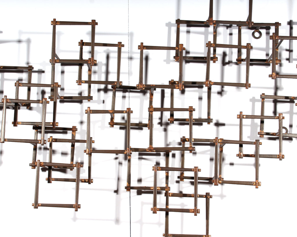 Vintage Brutalist Metal Wall Sculpture