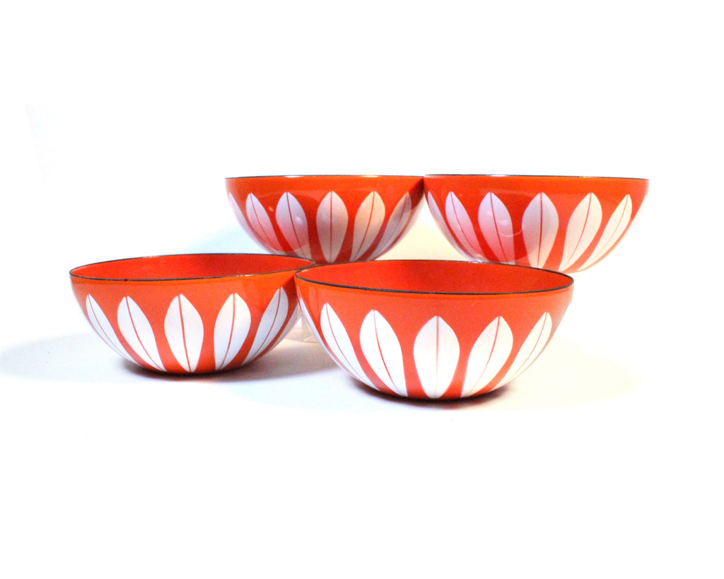 "Vintage Cathrineholm of Norway ""Lotus"" Enamel Bowls"