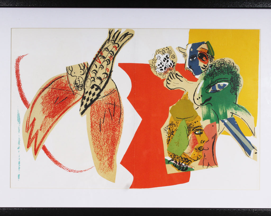 "Marc Chagall Color Lithograph for 1966 ""XXe Siècle,"" No. 26"