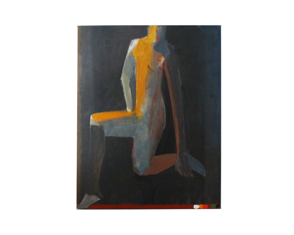 "Jamie Chase Signed 2010 ""Connection"" Acrylic on Canvas of a Figure"