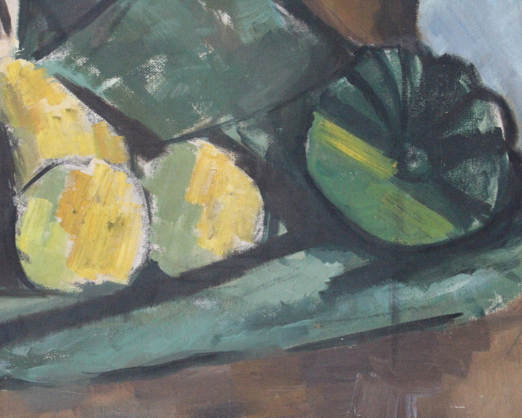 Mid-Century Cubist Style Oil on Board Still Life