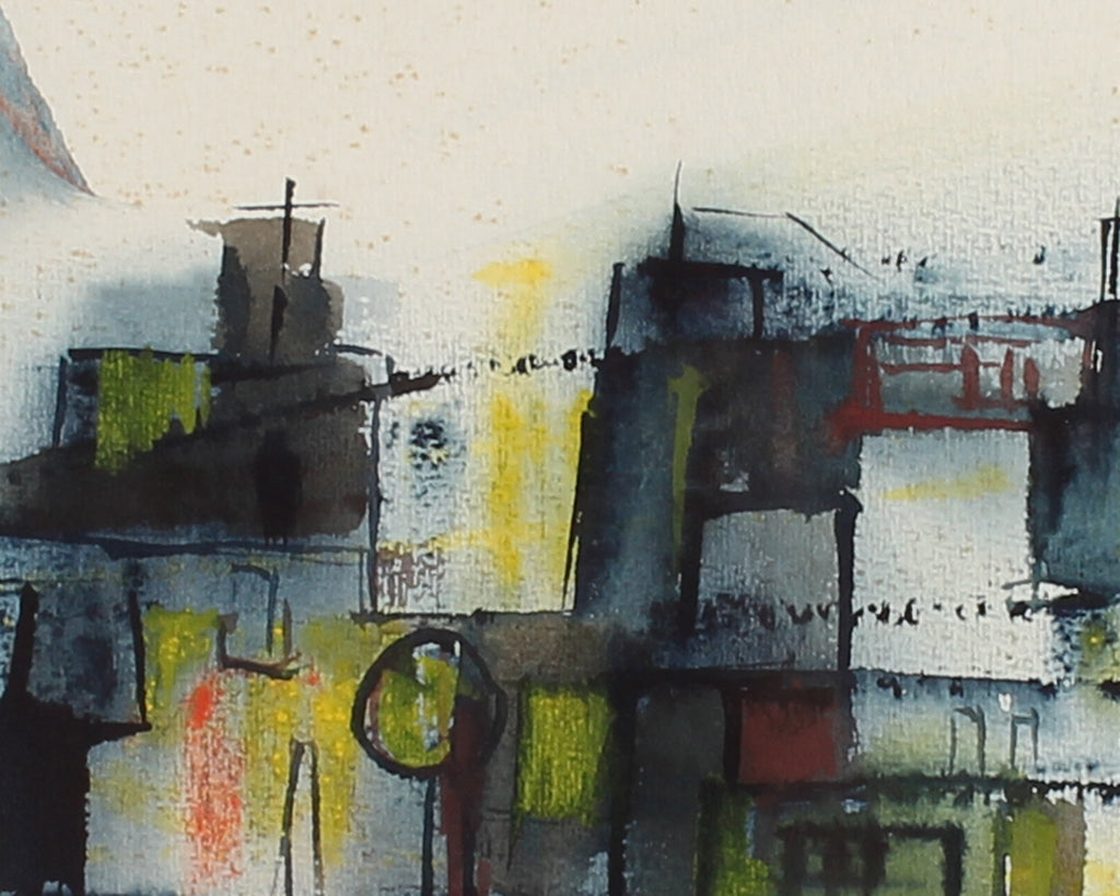 Mary Dill Signed Abstract Watercolor Painting