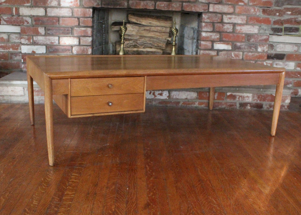 "Mid Century Modern Barney Flagg for Drexel ""Parallel"" Walnut Coffee Table"