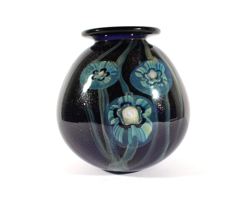 Robert Eickholt 2002 Signed Art Glass Vase