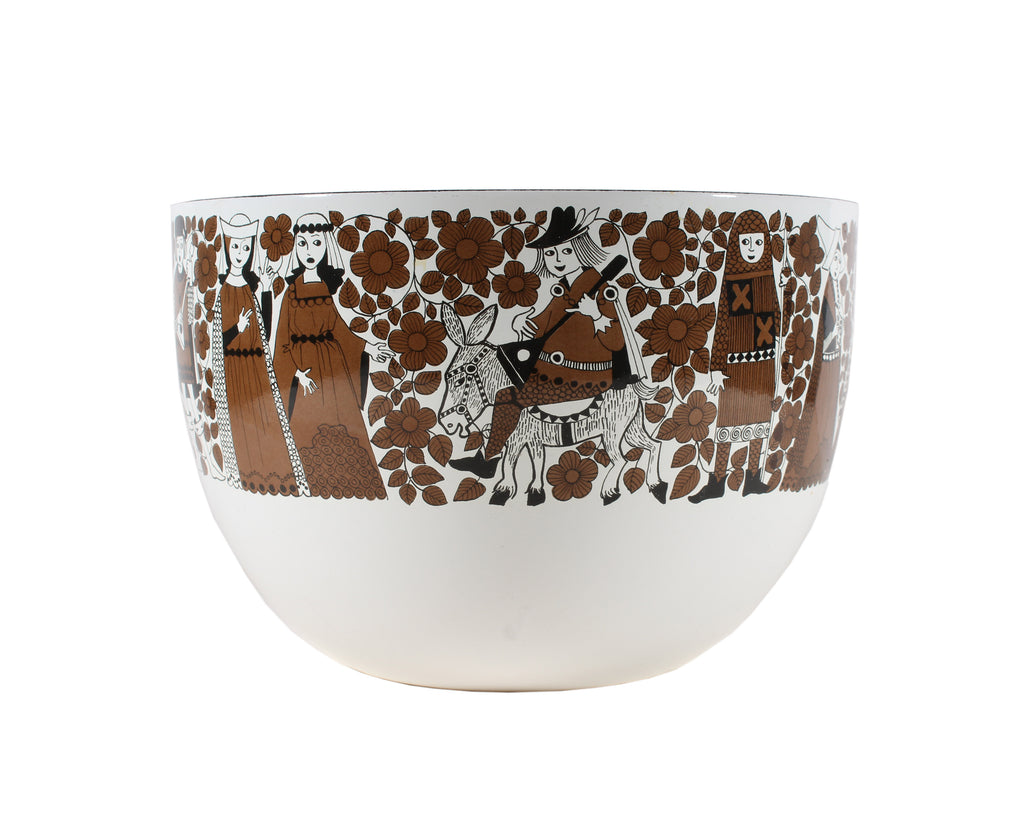 "Esteri Tomula and Kaj Franck for Arabia Finland ""Ritari"" Enamel Bowl"