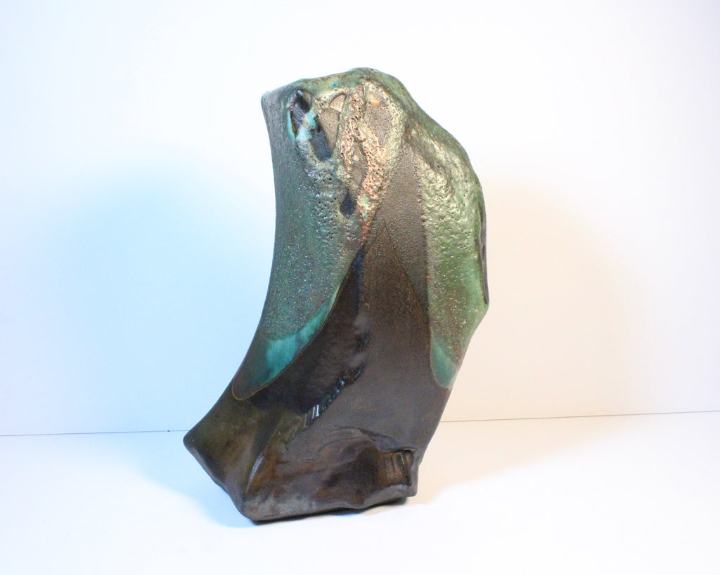 Tony Evans Signed Raku Art Pottery Vase