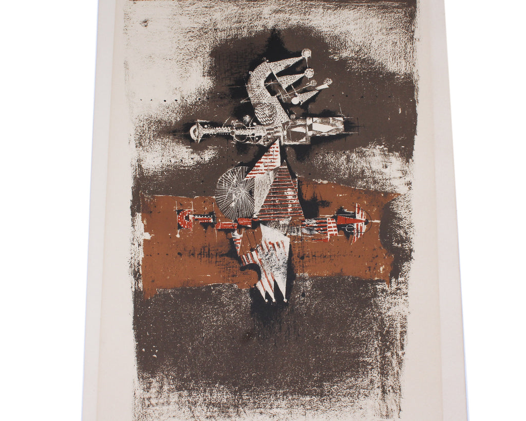 "Johnny Friedlaender Signed Limited Edition Abstract Lithograph ""Sao Paulo"""