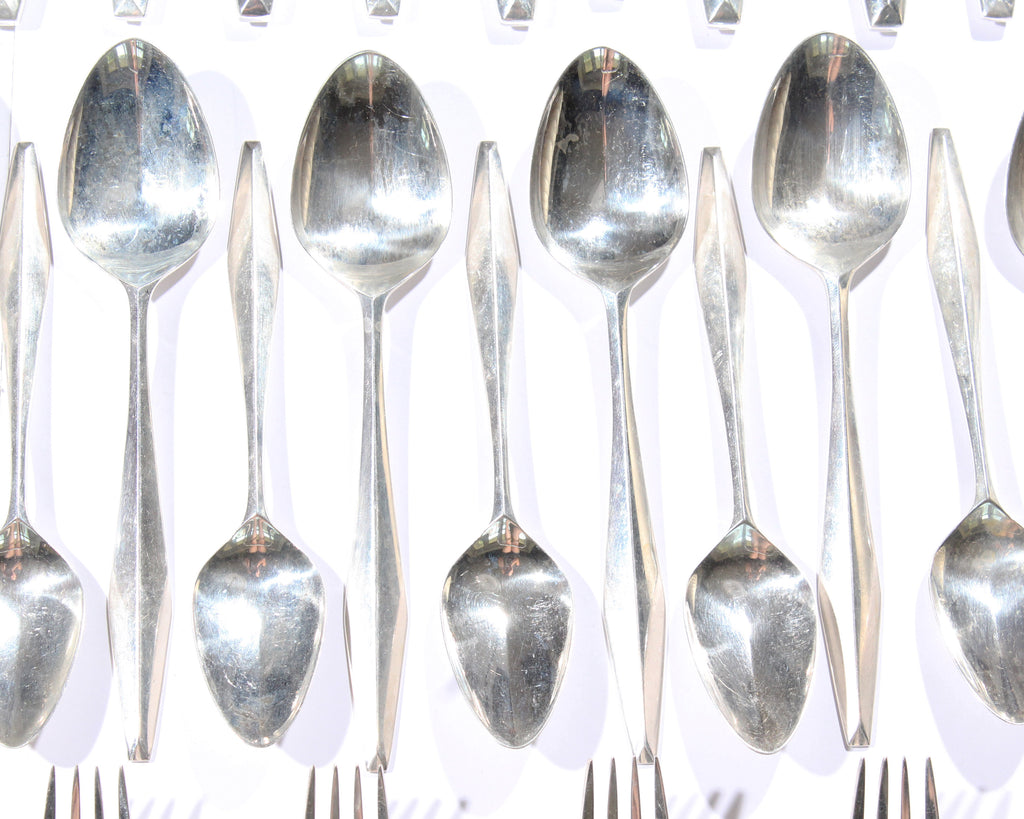 "Gio Ponti ""Diamond"" Reed & Barton Sterling Silver Flatware"