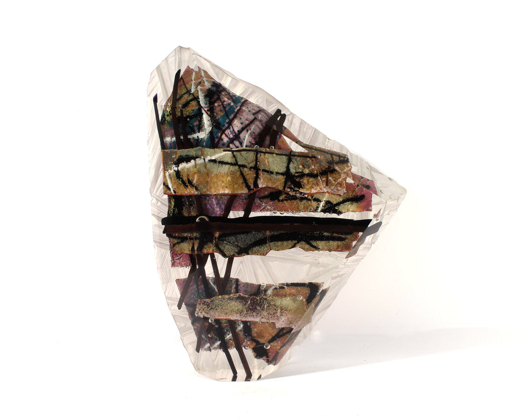 Grant Miller Signed 1988 Art Glass Shard Sculpture