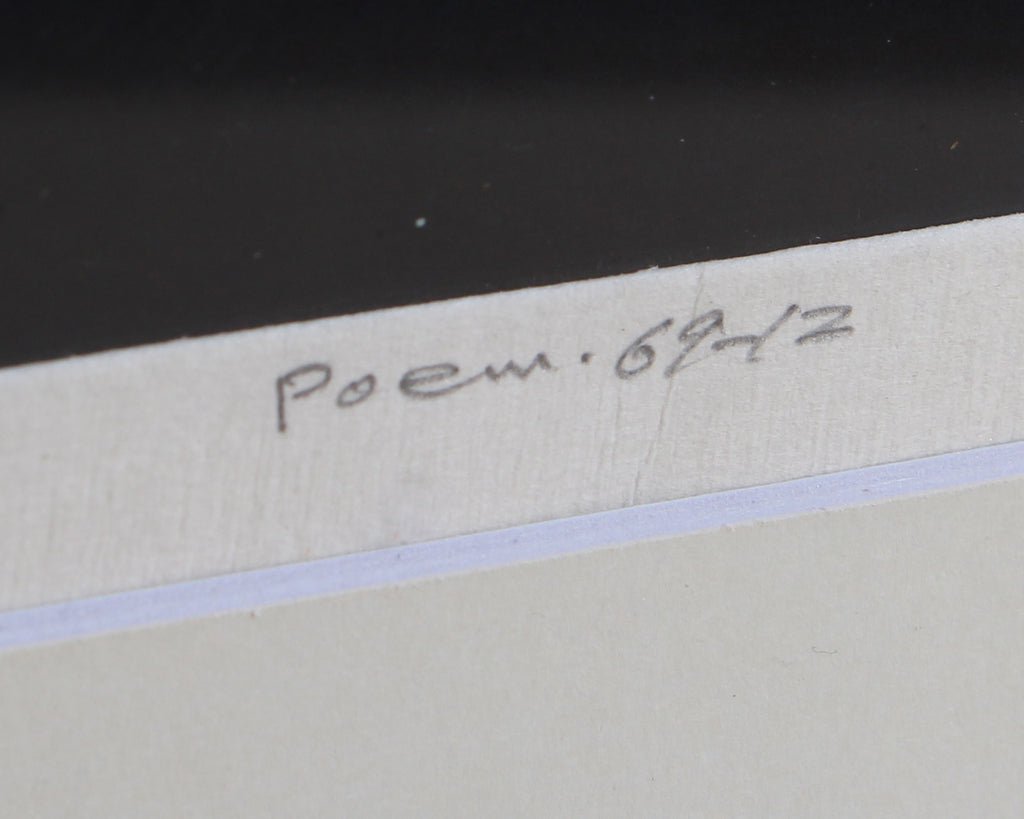 "Haku Maki Signed ""Poem 69-12"" Limited Edition Embossed Lithograph"