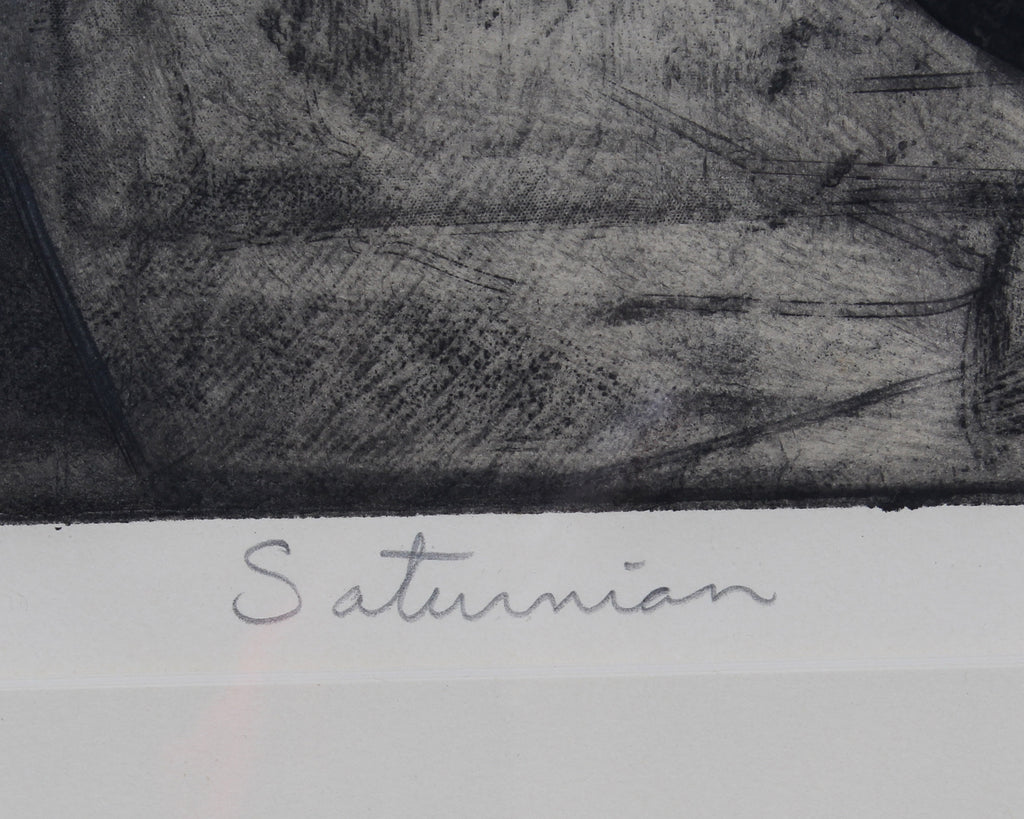 "Herbert C. Cassill Signed Limited Edition Aquatint Etching ""Saturnian"""