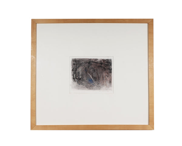 Herbert C. Cassill Signed 1992 Abstract Crayon Drawing