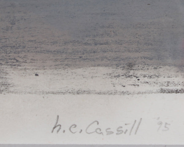 Herbert C. Cassill 1995 Signed Abstract Gouache Painting