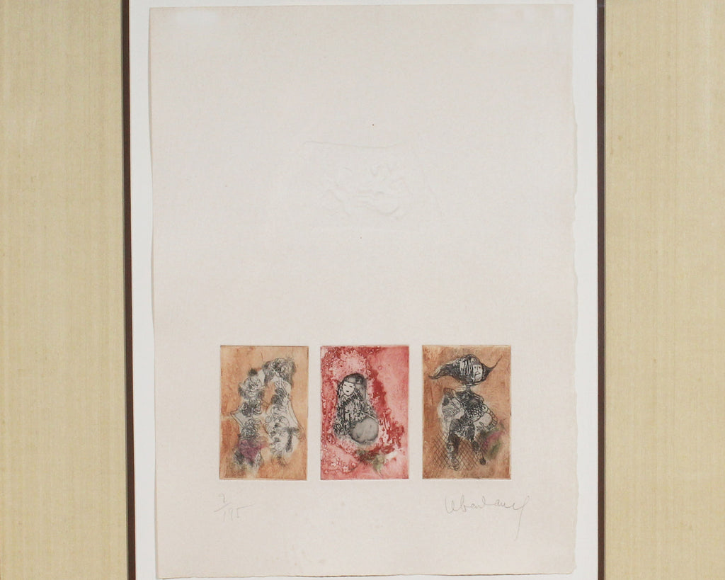 Lebadang Hoi Signed Limited Edition Etching and Embossed Print