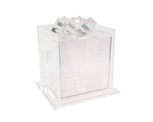 "Vintage Acrylic Designs Ice Bucket with ""Ice"" Lid"