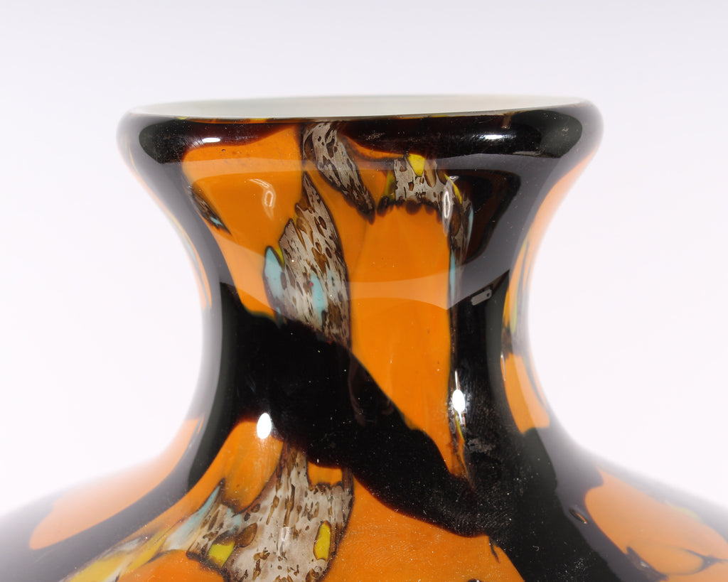 Japanese Art Glass Vase Attributed to Toshi Iwata