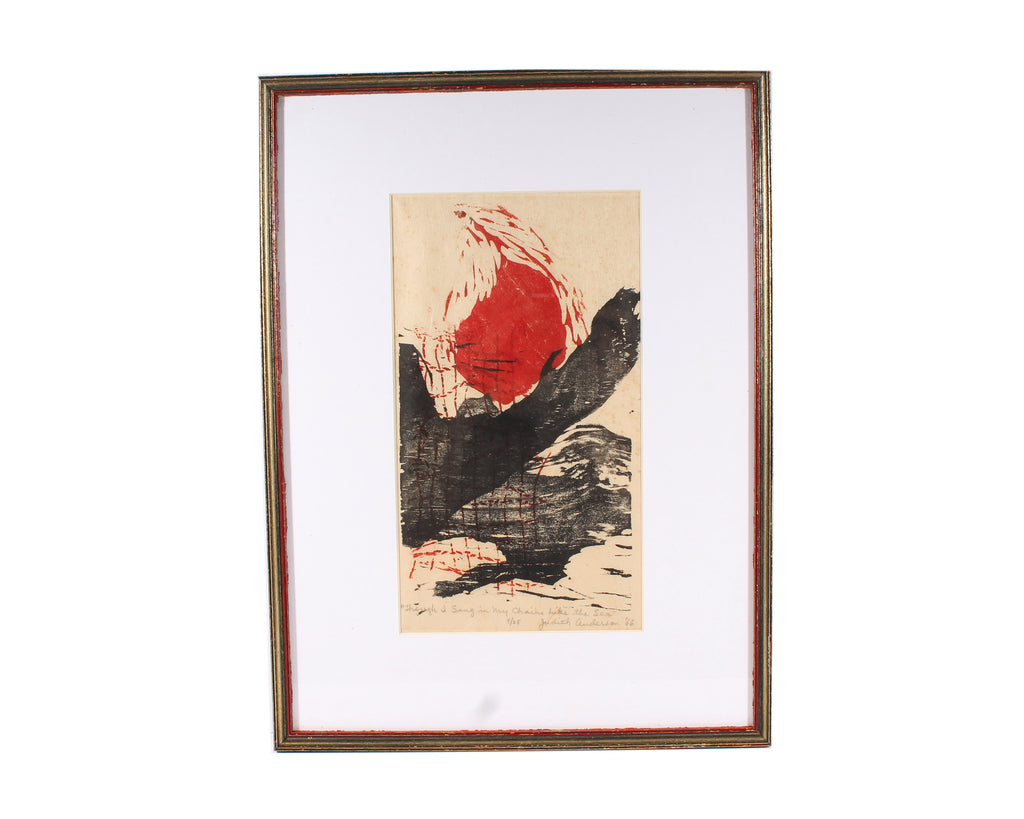 Judith Anderson 1966 Limited Edition Woodblock Print