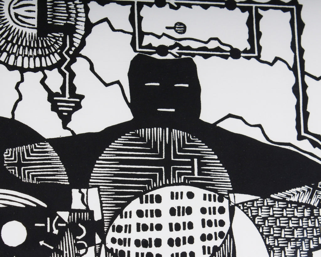 "Keith Dull ""Binary Spirits"" Relief Print"