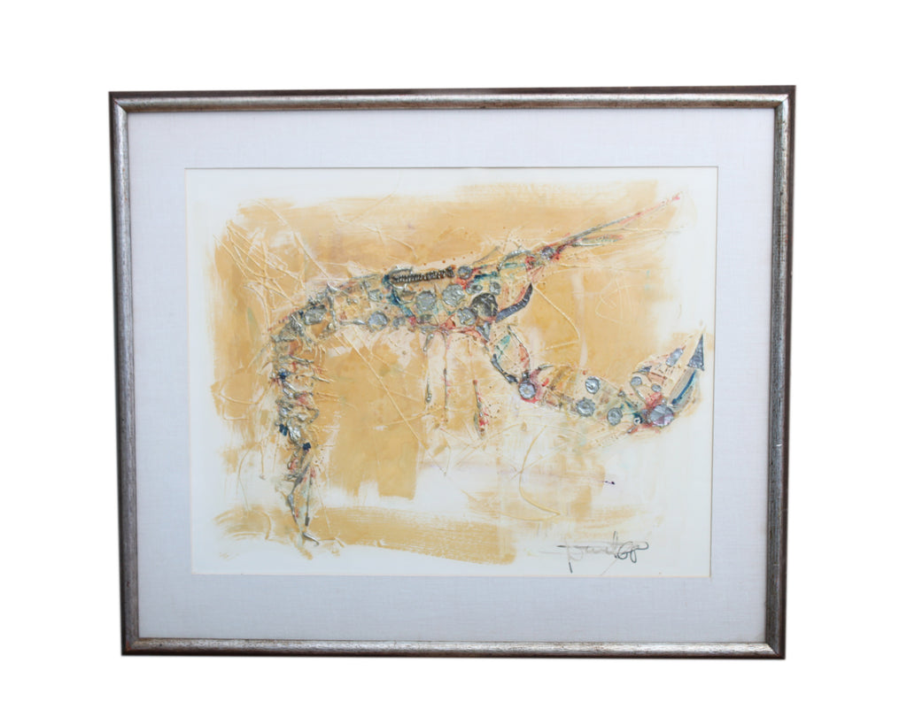 Lebadang Hoi Signed Mixed Media Abstract Painting
