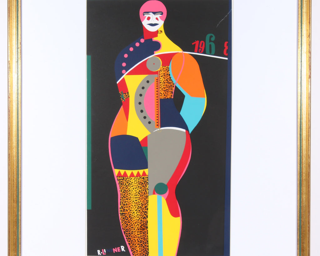 "Richard Lindner 1968 Serigraph Print ""Fun City from Multiples"""