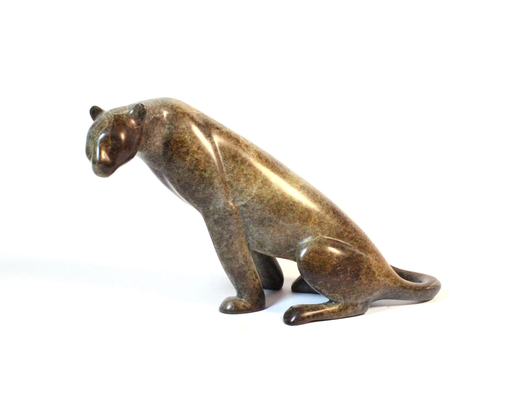 Loet Vanderveen Signed Limited Edition Bronze Leopard Sculpture