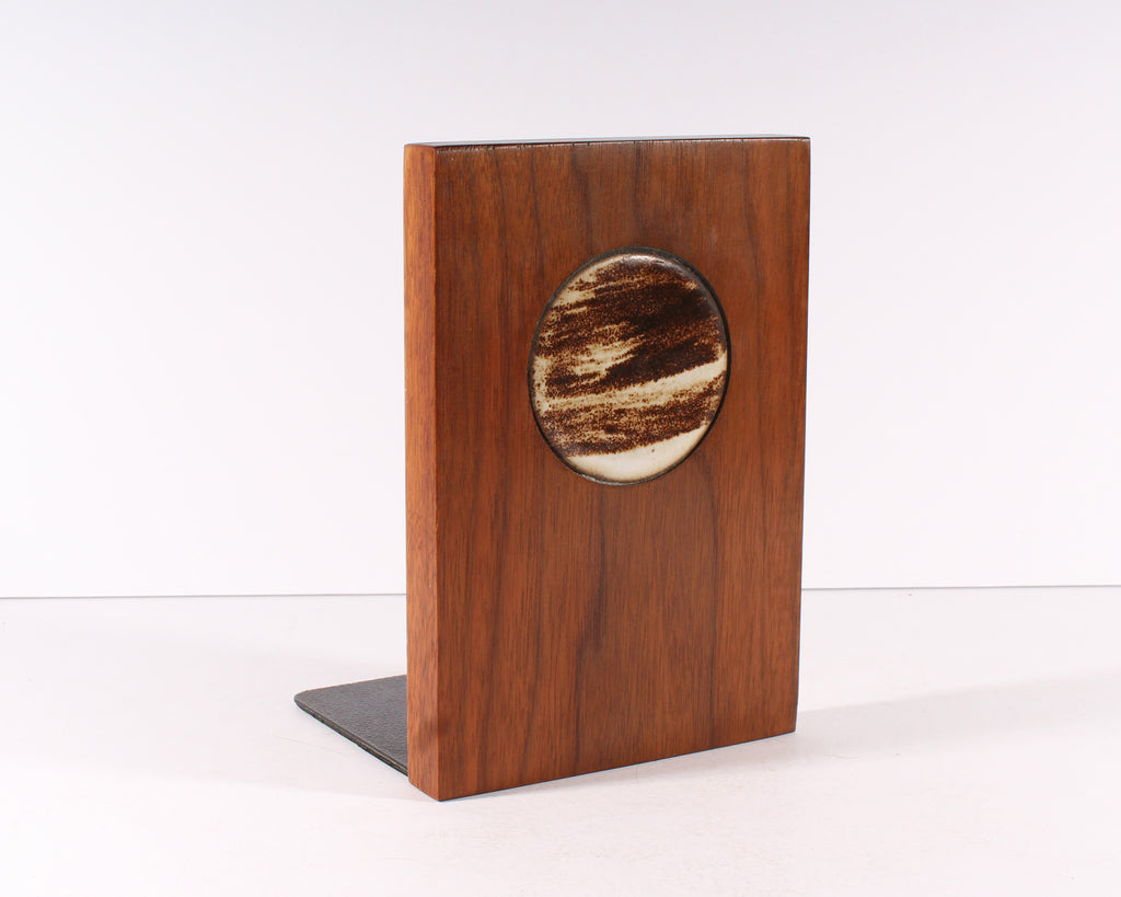 Martz Marshall Studios Walnut Ceramic Bookend