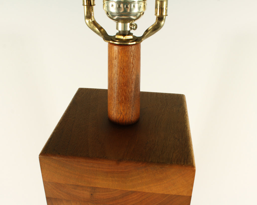 Martz Marshall Studios Stacked Walnut Table Lamp