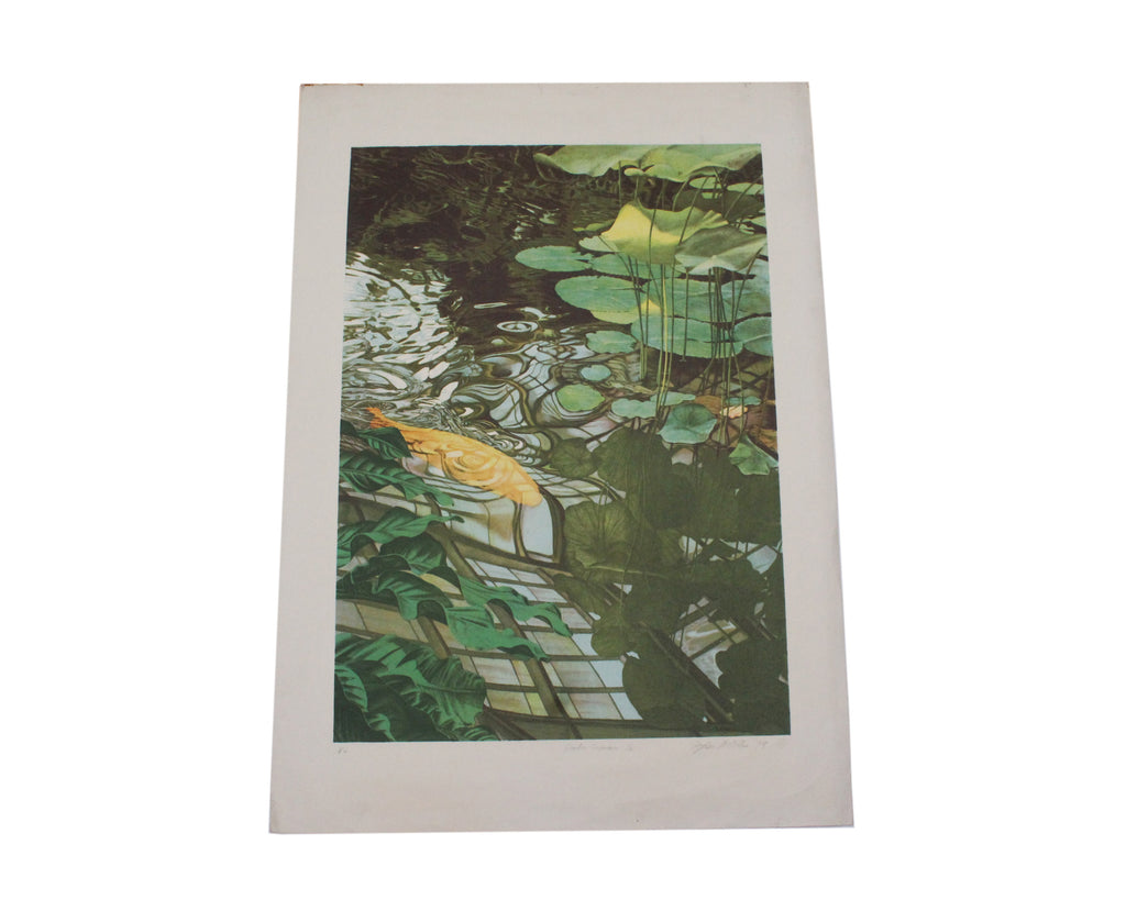 "Stephen McMillan 1979 Signed Limited Edition ""Koi"" Color Lithograph"