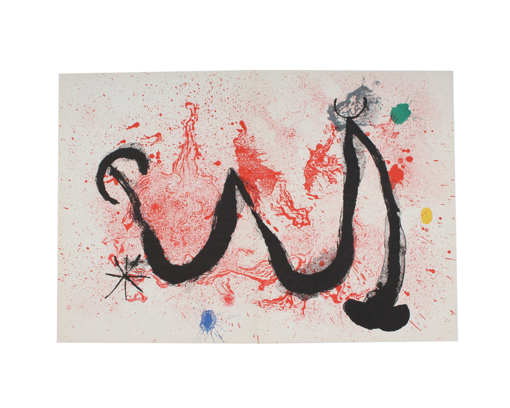 "Joan Miró 1963 Lithograph from ""Derriere le Miroir,"" No. 139-140"