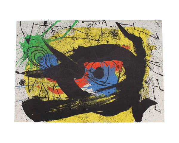"Joan Miró 1973 Lithograph from ""Derriere le Miroir,"" No. 203"