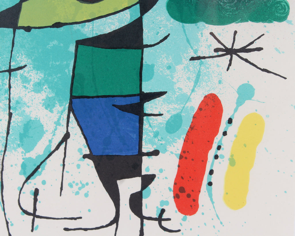 "Joan Miró 1972 Color Lithograph ""The Singing Fish"" from ""Joan Miró: Lithographs I"""