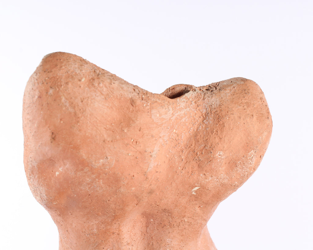 Terra Cotta Clay Nude Female Torso Sculpture