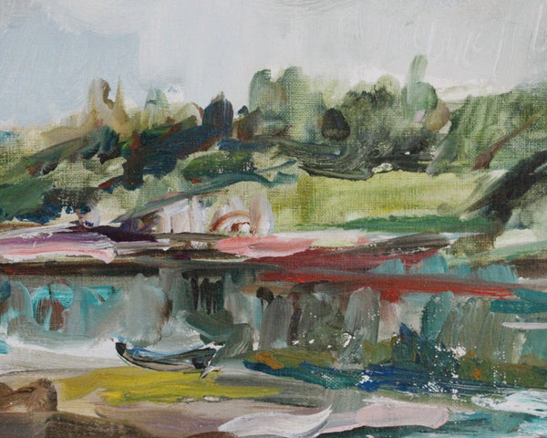 1970 Max Newman Oil on Canvas Landscape Painting