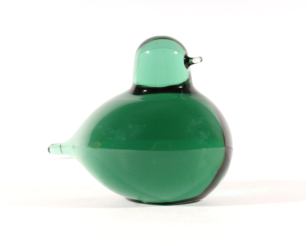 Oiva Toikka Nuutajarvi Iittala Finnish Art Glass Green Bird