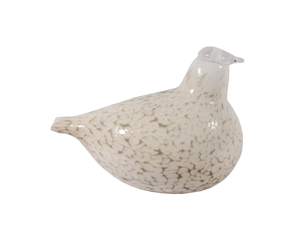 Oiva Toikka Nuutajarvi Iittala Finnish Art Glass White Bird