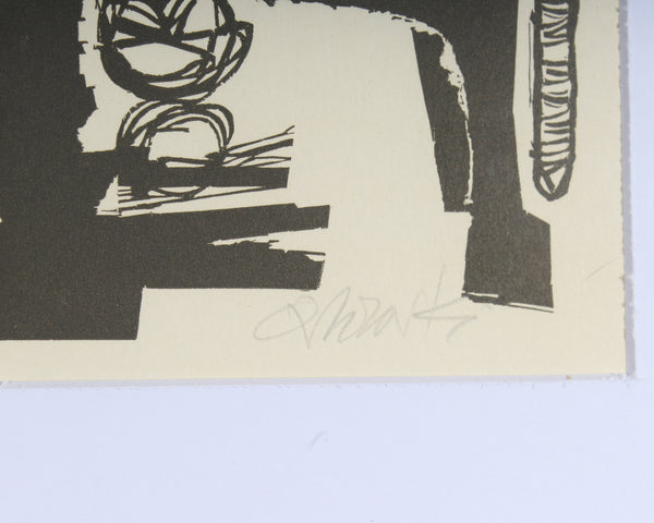 Hans Orlowski Signed Lithograph of an Abstract Portrait