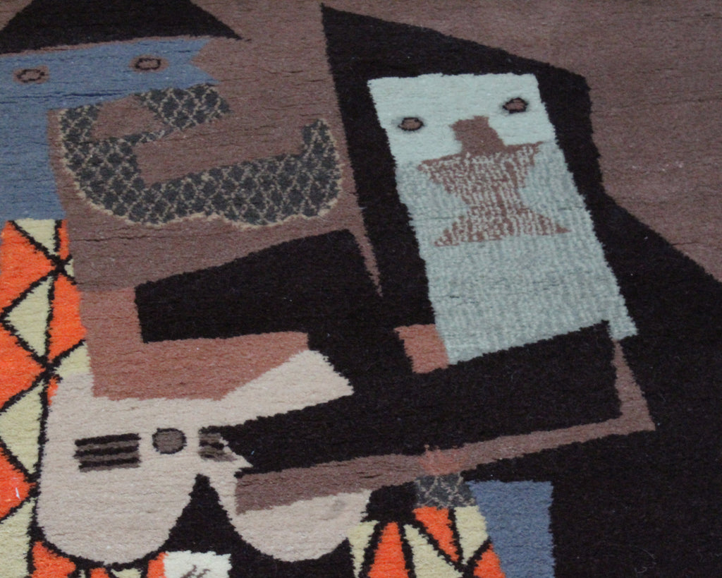 "1965 Picasso ""Three Musicians"" Magnum Creation Wool Rug"