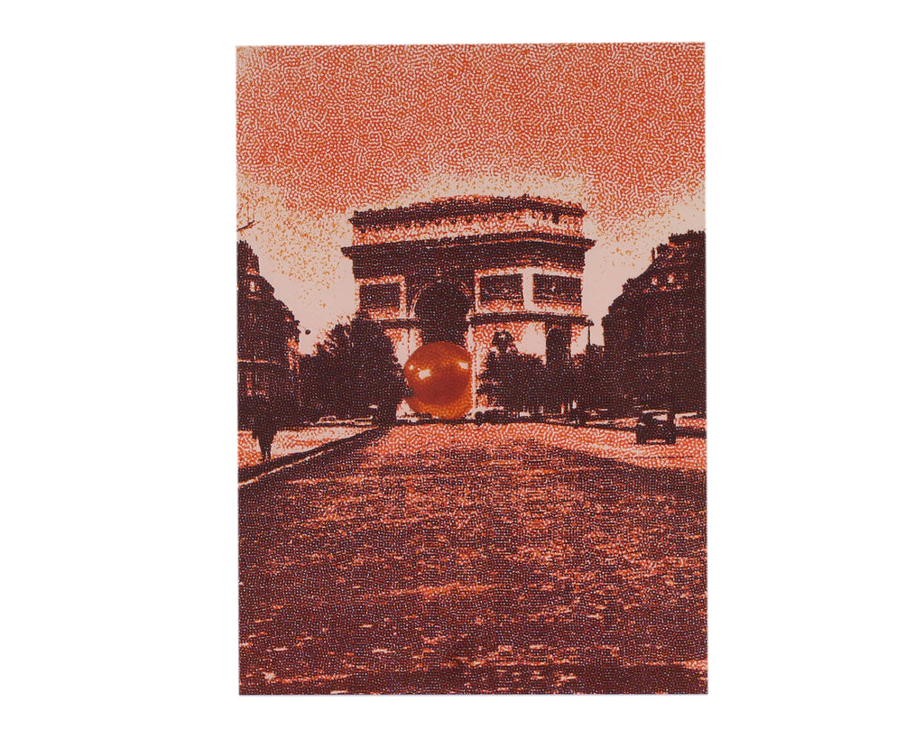 "Pol Bury 1971 Arc de Triomphe, Paris Lithograph from ""Derriere le Miroir,"" No. 191"