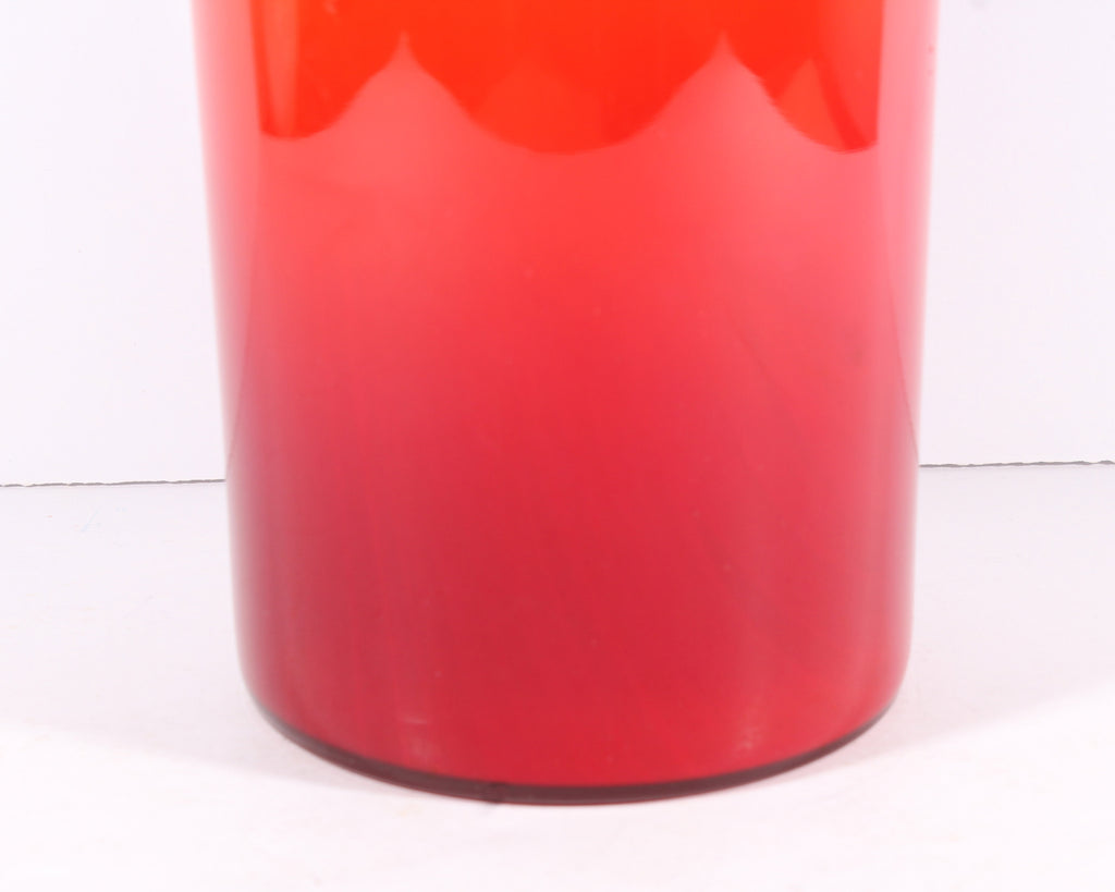 "Otto Brauer 1960s or 70s Red ""Gulvvase"" for Holmegaard"
