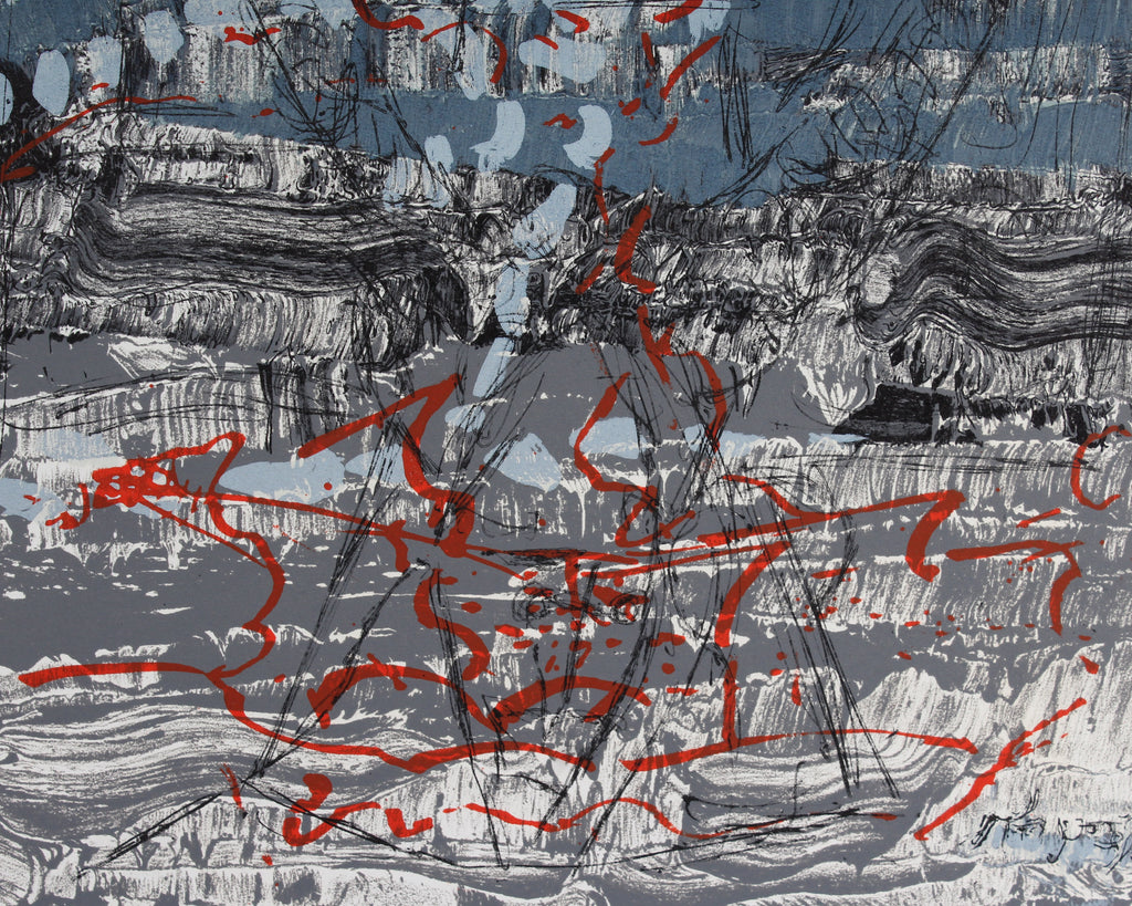 "Jean-Paul Riopelle 1970 Lithograph from ""Derriere le Miroir,"" No. 185"